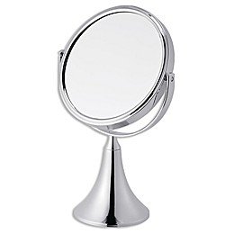 Bellair Double Sided Standing Vanity Mirror in Silver