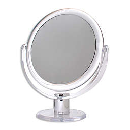 Metro Double Sided Standing Vanity Mirror in Silver