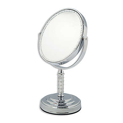 Brook Double Sided Standing Vanity Mirror in Silver