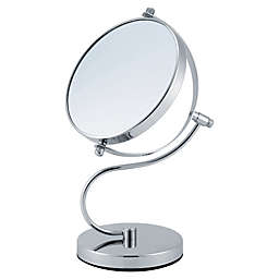 Cameron Double Sided Standing Vanity Mirror in Silver