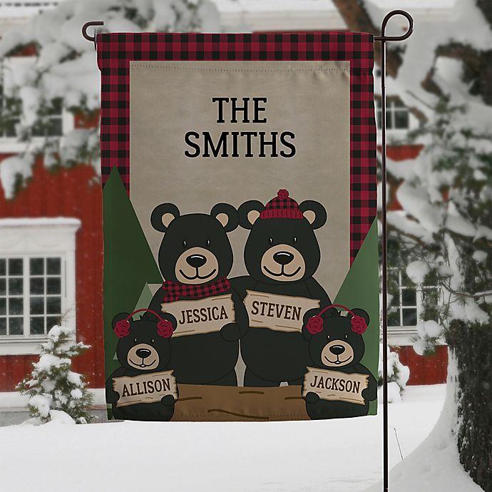 Alternate image 1 for Holiday Bear Family Garden Flag
