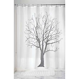 iDesign® Tree Shower Curtain in Charcoal