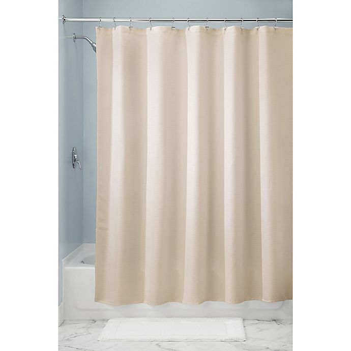 Alternate image 1 for iDesign® 72-Inch x 72-Inch Paxton Shower Curtain in Sand