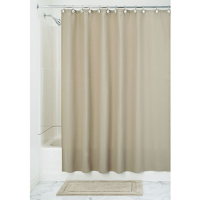 Alternate image 1 for iDesign® 72-Inch x 84-Inch York Shower Curtain in Beige