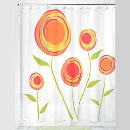 iDesign® Marigold Shower Curtain in Orange/Red