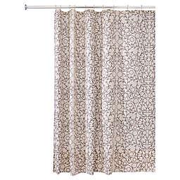 InterDesign® Twigz Shower Curtain in Vanilla/Bronze