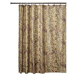 InterDesignreg Cheetah Fabric Shower Curtain In Brown