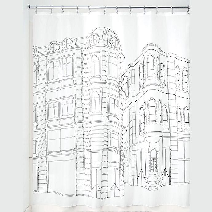 Alternate image 1 for iDesign® Cityscape Shower Curtain