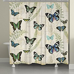Laural Home Flutters and Ferns Shower Curtain