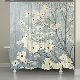Laural Home Dogwood Blooms Shower Curtain