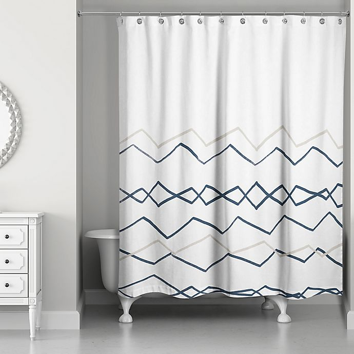 Designs Direct Tribal Lines Shower Curtain