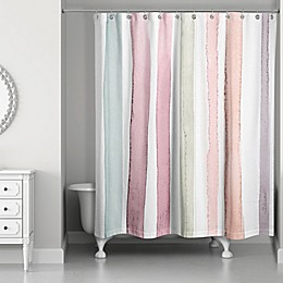 Designs Direct Watercolor Stripes Shower Curtain