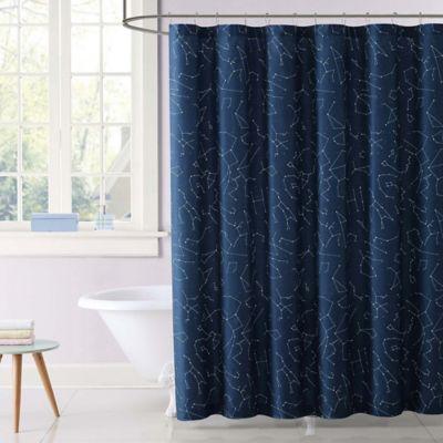 Laura Hart Kids Night Sky Shower Curtain In Blue