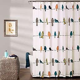 Lush Décor Rowley Birds Shower Curtain
