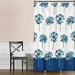 Saturday Knight Blue Medley Shower Curtain in Blue