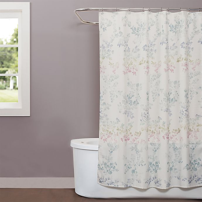 Saturday Knight Ombre Leaves Shower Curtain