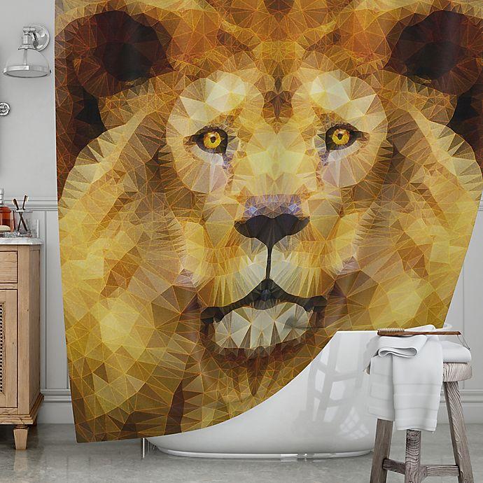 KESS InHouse® Lion King Shower Curtain