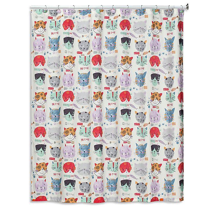 Creative Bath Shower Curtain creative bath kitty canvas shower curtain | bed bath & beyond