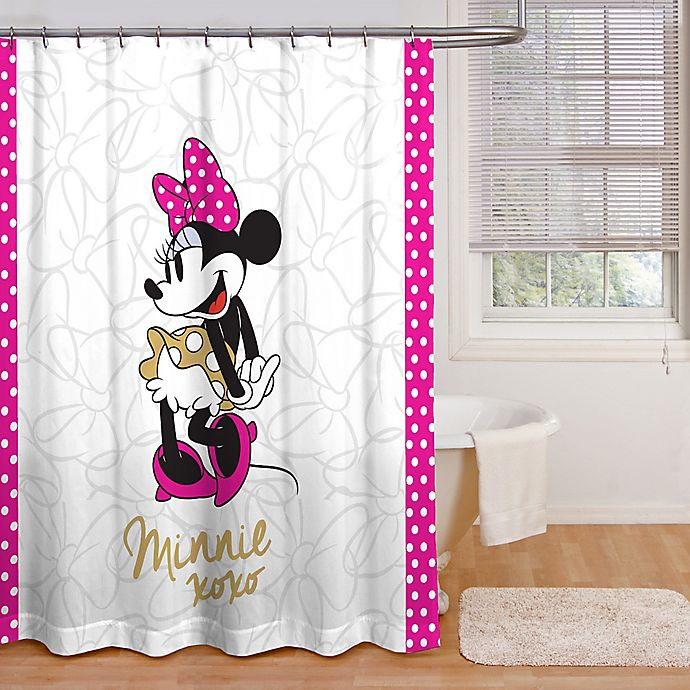 Minnie Mouse XOXO Shower Curtain Collection