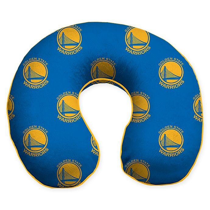 Alternate image 1 for NBA Golden State Warriors Microfiber Memory Foam U-Neck Travel Pillow