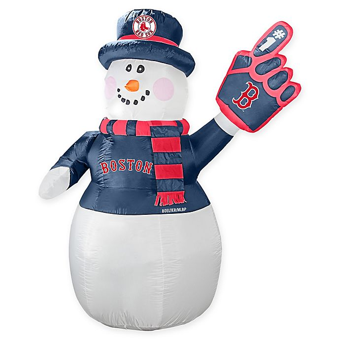 Alternate image 1 for MLB Boston Red Sox Inflatable Snowman