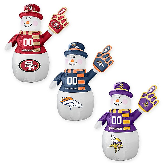 Nfl Inflatable Snowman Collection Bed Bath Amp Beyond