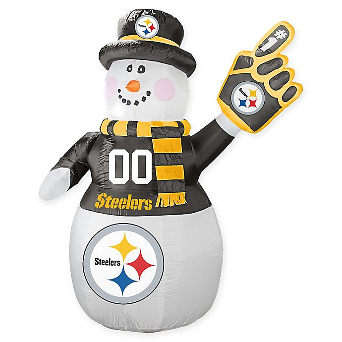 Alternate image 1 for NFL Pittsburgh Steelers Inflatable Snowman