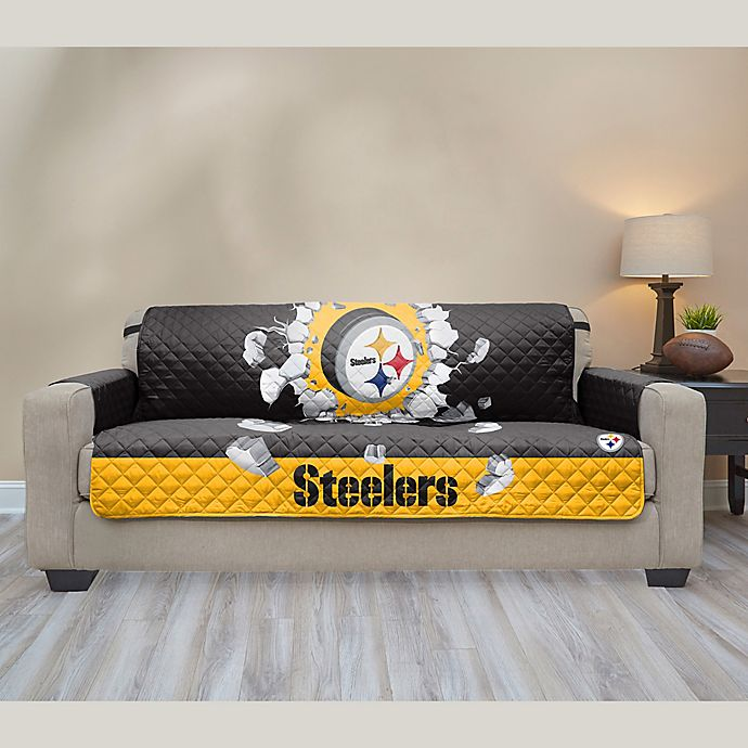 Nfl Pittsburgh Steelers Sofa Cover Bed Bath Amp Beyond