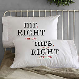 Mr. and Mrs. Right Pillowcases (Set of 2)