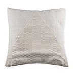 Triangle Square Throw Pillow in Natural