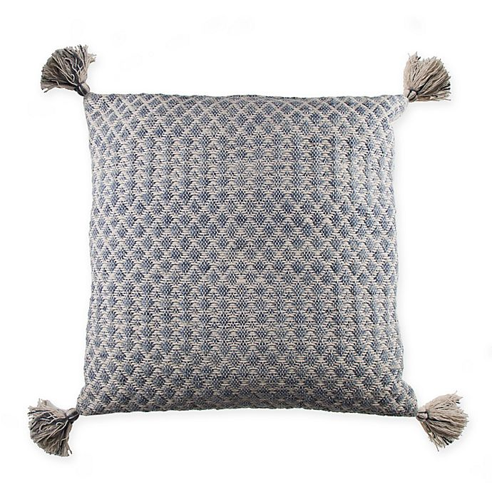 Alternate image 1 for Textured Tassel Square Throw Pillow