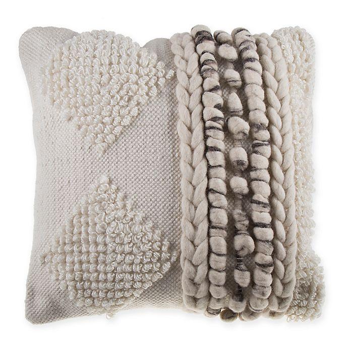 Alternate image 1 for Diamond Stripe Nubby Square Throw Pillow