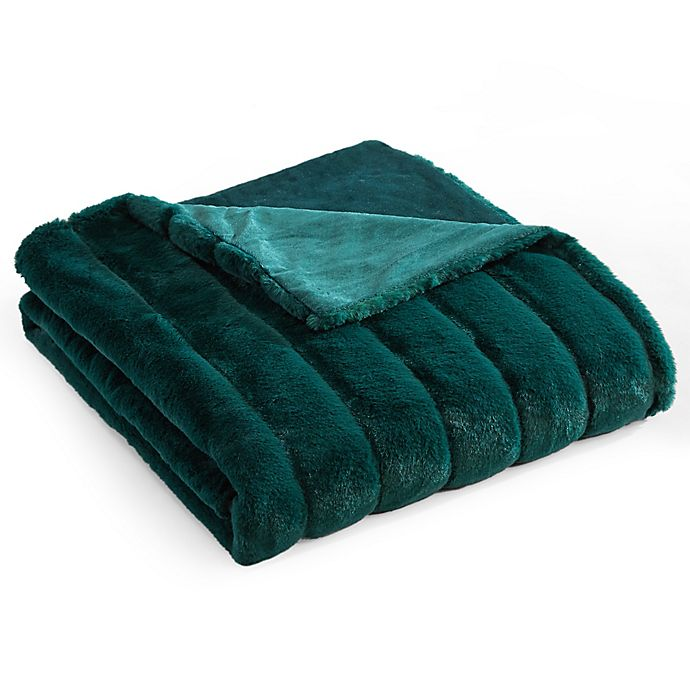 Alternate image 1 for Chic Home Solenn Faux Fur Throw in Green