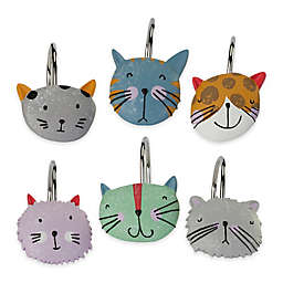 Creative Bath Kitty Hooks (Set of 12)