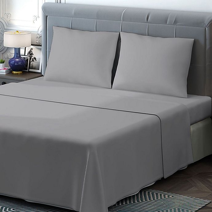 Alternate image 1 for Brielle 400-Thread-Count Sateen King Sheet Set in Grey