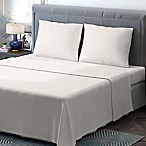 Brielle 400-Thread-Count Sateen Queen Sheet Set in Ivory