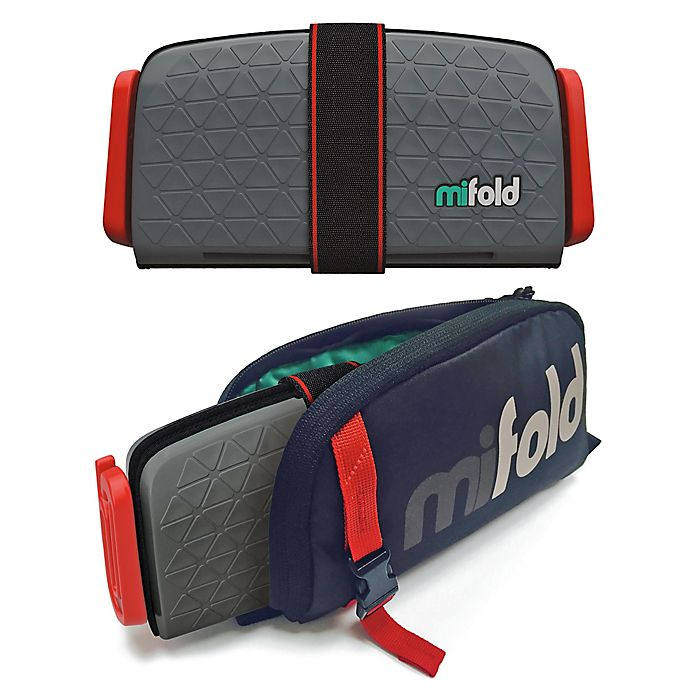 Alternate image 1 for mifold® Grab-n-Go Booster Car Seat + Carry Bag Combo in Dark Grey