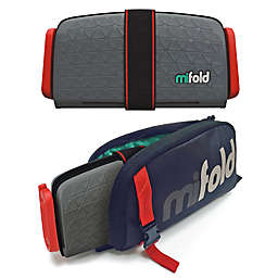 mifold® Grab-n-Go Booster Car Seat + Carry Bag Combo in Dark Grey
