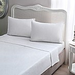 Brielle Jersey Knit Cotton Twin/Twin XL Sheet Set in White