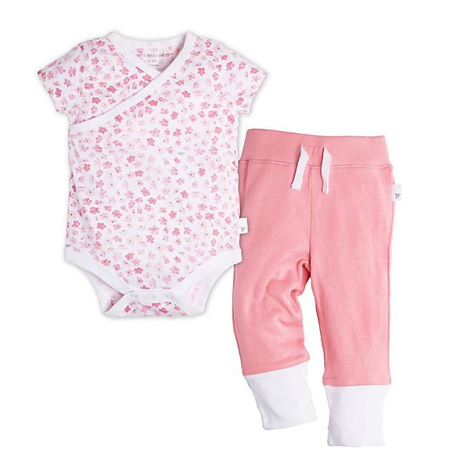 73ef3221c Burt's Bees Baby® Size 9M Short Sleeve Mini Flower Bodysuit and Pant Set in  Pink
