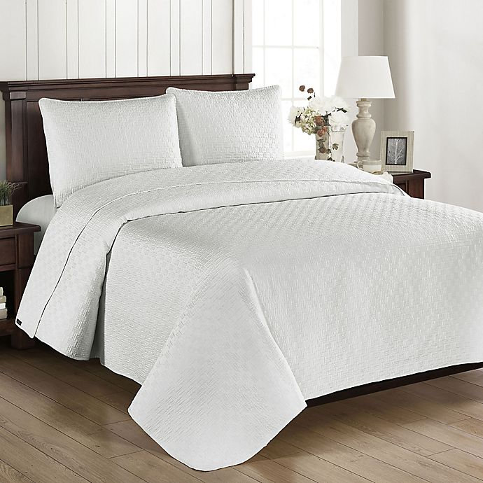 Alternate image 1 for Brielle Basketweave Twin Quilt Set in Off White