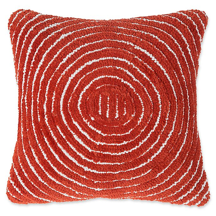Alternate image 1 for Nottingham Home Geometric Circles Square Throw Pillow in Red