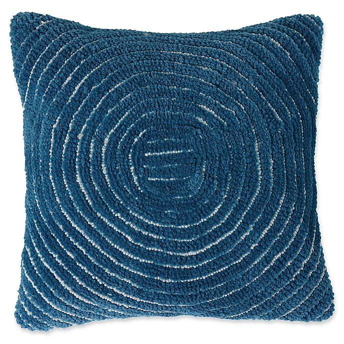 Alternate image 1 for Nottingham Home Geometric Circles Square Throw Pillow in Navy
