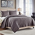 Croscill® Crestwood Reversible King Quilt in Grey