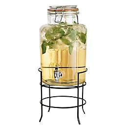 Home Essentials & Beyond Bail-and-Trigger Glass Beverage Dispenser