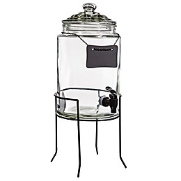 Home Essentials & Beyond Glass Beverage Dispenser with Chalk Board