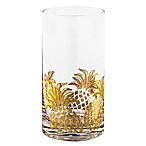 Home Essentials & Beyond Gold Pineapple Highball Glasses (Set of 4)