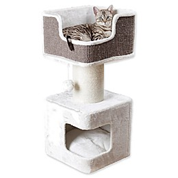 TRIXIE Ava Cat Bed in Grey/White
