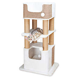 TRIXIE Lucano Cat Tree in White/Taupe