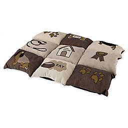 TRIXIE Quilted Polyester Small Pet Bed in Brown/Beige